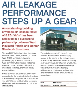 Air Leakage Article about Lloyd BMW Bodyshop, Carlisle