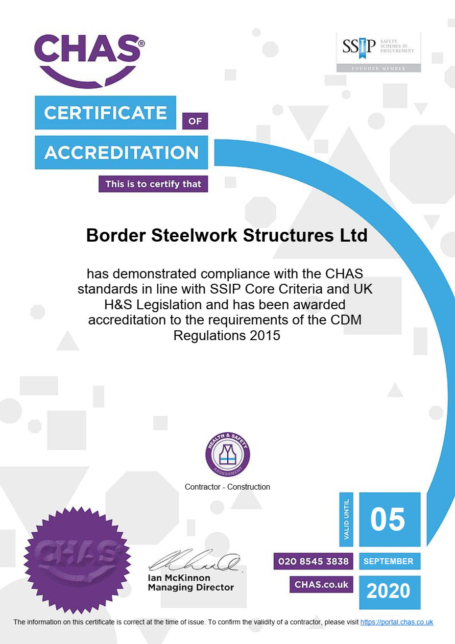 CHAS Certificate 2019-20